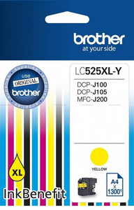Tusz Brother LC525XL Y YELLOW 1300 do DCP-J100 DCP-J105