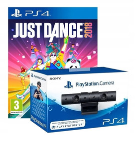 PS4 KAMERA PLAYSTATION V2 + GRA JUST DANCE 2018