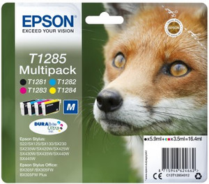 Multipack T1285 CMYK - 3x3.5ml+1x5.9ml do serii SX/BX