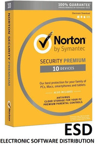 NORTON SECURITY Deluxe 10 PC MAC ANDROID Wersja elektroniczna