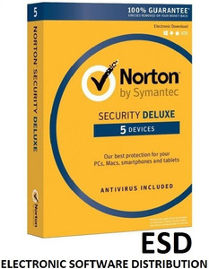 NORTON SECURITY Deluxe 5 PC MAC ANDROID Wersja elektroniczna
